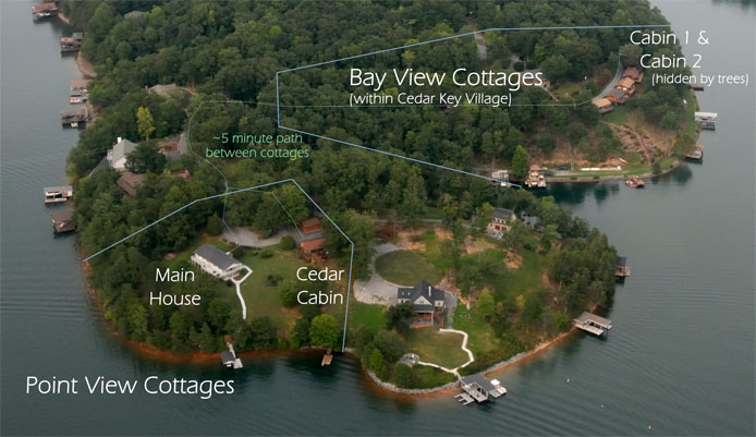 Silver Bay View Cottage Aerial View